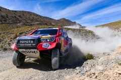 300 AL ATTIYAH Nasser (qat), BAUMEL Mathieu (fra), Toyota Gazoo Racing, Toyota Hilux, action during the 1st stage of the Rallye du Maroc 2019 from Fes to Erfoud on October 5th - Photo Julien Delfosse / DPPI