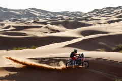 zz07 BENAVIDES Kevin (arg), Monter Energy Honda Team, Honda CRF 450, action during the 2nd Stage of the Rallye du Maroc 2019 from Erfoud to Erfoud on October 6th - Photo Eric Vargiolu / DPPI