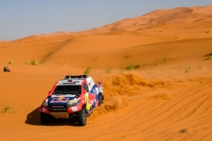 300 AL ATTIYAH Nasser (qat), BAUMEL Mathieu (fra), Toyota Gazoo Racing, Toyota Hilux, action during the 2nd Stage of the Rallye du Maroc 2019 from Erfoud to Erfoud on October 6th - Photo Eric Vargiolu / DPPI