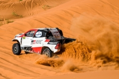 314 ALONSO Fernando (esp), COMA Marc (esp), Toyota Gazoo Racing, Toyota Hilux Overdrive, action during the 2nd Stage of the Rallye du Maroc 2019 from Erfoud to Erfoud on October 6th - Photo Eric Vargiolu / DPPI