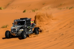 337 FARRES GUELL Gerard (esp), MONLEON HERNANDES Arman (esp), Monster Energy Can-Am, Can Am Maverick, action during the 2nd Stage of the Rallye du Maroc 2019 from Erfoud to Erfoud on October 6th - Photo Eric Vargiolu / DPPI