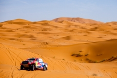300 AL ATTIYAH Nasser (qat), BAUMEL Mathieu (fra), Toyota Gazoo Racing, Toyota Hilux, action during the 2nd Stage of the Rallye du Maroc 2019 from Erfoud to Erfoud on October 6th - Photo Julien Delfosse / DPPI