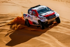 314 ALONSO Fernando (esp), COMA Marc (esp), Toyota Gazoo Racing, Toyota Hilux Overdrive, action during the 2nd Stage of the Rallye du Maroc 2019 from Erfoud to Erfoud on October 6th - Photo Julien Delfosse / DPPI