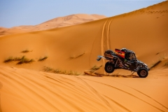 337 FARRES GUELL Gerard (esp), MONLEON HERNANDES Arman (esp), Monster Energy Can-Am, Can Am Maverick, action during the 2nd Stage of the Rallye du Maroc 2019 from Erfoud to Erfoud on October 6th - Photo Julien Delfosse / DPPI