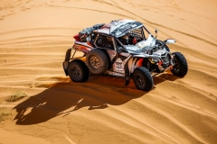 223 SORHMAT Anas, Maldonado Franck, Can-Am Maverick 3, action during the 2nd Stage of the Rallye du Maroc 2019 from Erfoud to Erfoud on October 6th - Photo Julien Delfosse / DPPI
