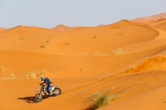 124 PONCET Jeremy (fra), Team Maroc, Sherco SFER, action during the 2nd Stage of the Rallye du Maroc 2019 from Erfoud to Erfoud on October 6th - Photo Frederic Le Floc'h / DPPI