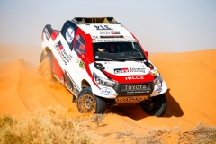 314 ALONSO Fernando (esp), COMA Marc (esp), Toyota Gazoo Racing, Toyota Hilux Overdrive, action during the 3rd Stage of the Rallye du Maroc 2019 from Erfoud to Erfoud on October 7th - Photo Julien Delfosse / DPPI