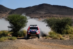 300 AL ATTIYAH Nasser (qat), BAUMEL Mathieu (fra), Toyota Gazoo Racing, Toyota Hilux, action during the 4th Stage of the Rallye du Maroc 2019 from Erfoud to Erfoud on October 8th - Photo Eric Vargiolu / DPPI
