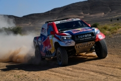 307 DE VILLIERS Giniel (zaf), HARO Alex (esp), Toyota Gazoo Racing, Toyota Hilux, action during the 4th Stage of the Rallye du Maroc 2019 from Erfoud to Erfoud on October 8th - Photo Eric Vargiolu / DPPI