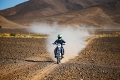 122 FLICK Xavier (fra), Sherco TVS Rally Factory, Sherco, action during the 4th Stage of the Rallye du Maroc 2019 from Erfoud to Erfoud on October 8th - Photo Julien Delfosse / DPPI