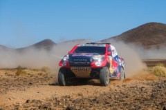 300 AL ATTIYAH Nasser (qat), BAUMEL Mathieu (fra), Toyota Gazoo Racing, Toyota Hilux, action during the 4th Stage of the Rallye du Maroc 2019 from Erfoud to Erfoud on October 8th - Photo Julien Delfosse / DPPI