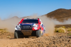 307 DE VILLIERS Giniel (zaf), HARO Alex (esp), Toyota Gazoo Racing, Toyota Hilux, action during the 4th Stage of the Rallye du Maroc 2019 from Erfoud to Erfoud on October 8th - Photo Julien Delfosse / DPPI