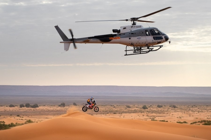 03 WALKNER Matthias (AUT), Red Bull KTM Factory Racing, KTM 450 Rally Factory, moto, quad, action  during Rally of Morocco 2018, Stage 4, Erfoud to Erfoud, october 8 - Photo Frederic Le Floc'h / DPPI