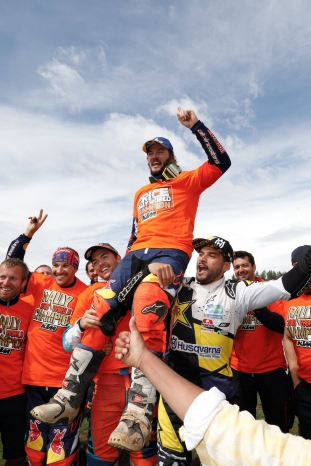 PRICE Toby (AUS), Red Bull KTM Factory Racing, KTM 450 Rally Factory, moto, quad, portrait  during Rally of Morocco 2018, Podium finish, Fes, october 9 - Photo Frederic Le Floc'h / DPPI