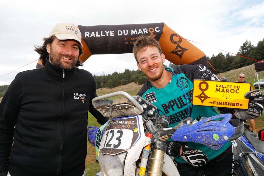 CASTERA David (fra), Director of the Rallye du Maroc, portrait POUL Maximilien (FRA), Team Drag On, Yamaha WRF 450, Enduro Cup, portrait  during Rally of Morocco 2018, Podium finish, Fes, october 9 - Photo Frederic Le Floc'h / DPPI