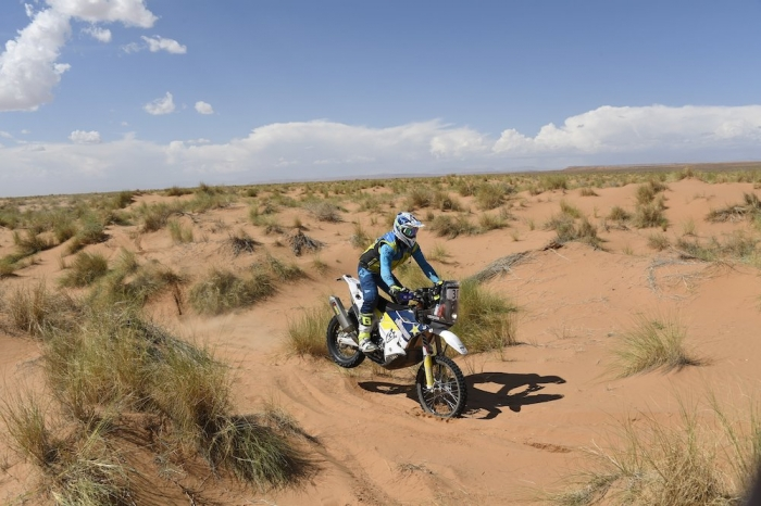 30 GILBERT Kenneth (ZAF), Husqvarna FR 450 RALLY, moto, quad, action during Rally of Morocco 2018, Stage 1, Fes to Erfoud, october 5 - Photo Eric Vargiolu / DPPI