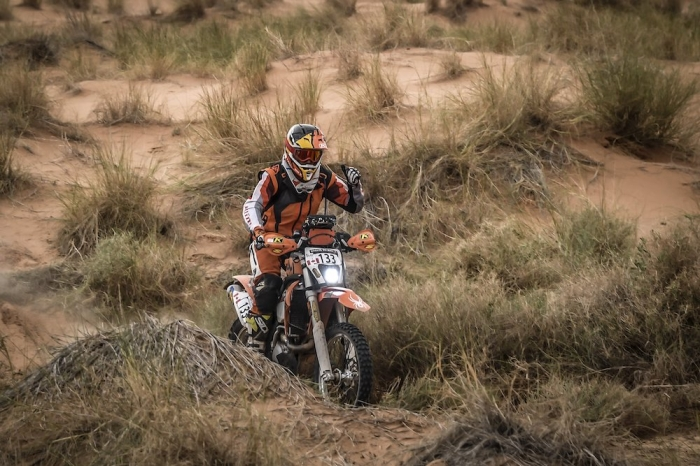 133 WEBB Lance (CAN), KTM EXC 450, Enduro Cup, action during Rally of Morocco 2018, Stage 1, Fes to Erfoud, october 5 - Photo Eric Vargiolu / DPPI