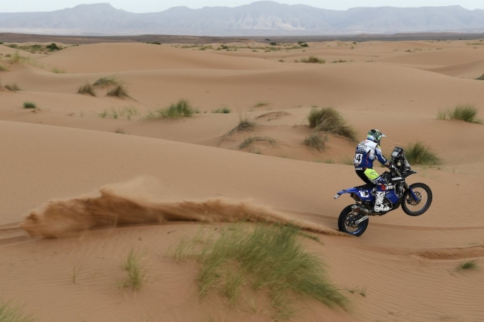 14 CAIMI Franco (ARG), Yamalube Yamaha Official Rally Team, Yamaha WR 450F Rally, moto, quad, action during Rally of Morocco 2018, Stage 2, Erfoud to Erfoud, october 6 - Photo Eric Vargiolu / DPPI