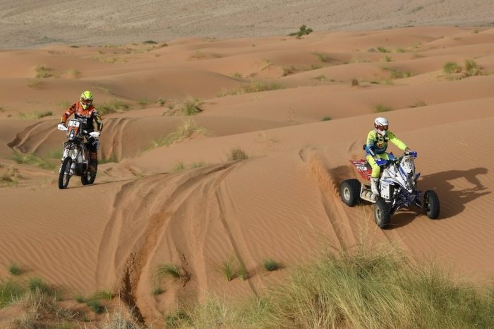 164 RAMSES Angel (AND), Yamaha Raptor 700, Enduro Cup, action during Rally of Morocco 2018, Stage 2, Erfoud to Erfoud, october 6 - Photo Eric Vargiolu / DPPI