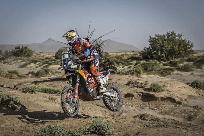 08 PRICE Toby (AUS), Red Bull KTM Factory Racing, KTM 450 Rally Factory, moto, quad, action during Rally of Morocco 2018, Stage 3, Erfoud to Erfoud, october 7 - Photo Eric Vargiolu / DPPI