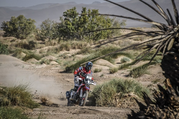 11 BRABEC Ricky (USA), Monster Energy Honda Team, Honda CRF 450 Rally, moto, quad, action during Rally of Morocco 2018, Stage 3, Erfoud to Erfoud, october 7 - Photo Eric Vargiolu / DPPI