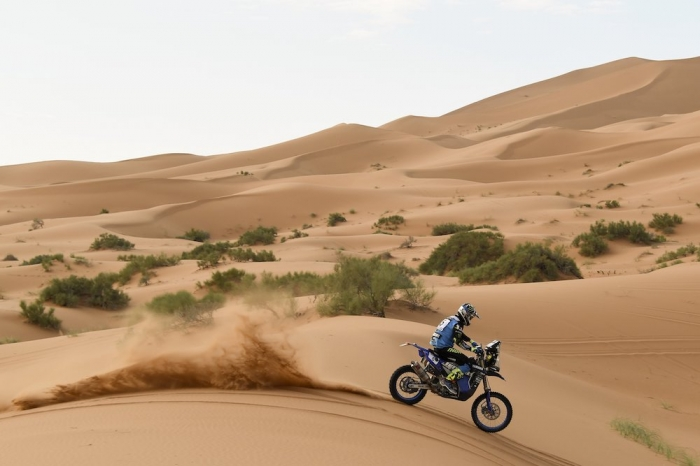 06 VAN BEVEREN Adrien (FRA), Yamalube Yamaha Official Rally Team, Yamaha WR 450F Rally, moto, quad, action during Rally of Morocco 2018, Stage 4, Erfoud to Erfoud, october 8 - Photo Eric Vargiolu / DPPI