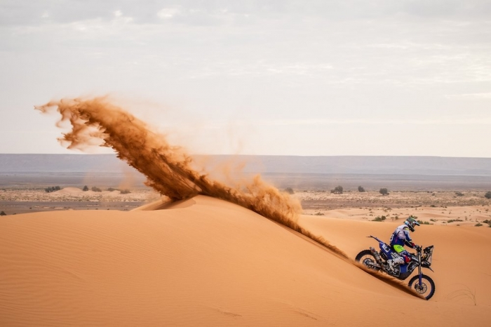 14 CAIMI Franco (ARG), Yamalube Yamaha Official Rally Team, Yamaha WR 450F Rally, moto, quad, action  during Rally of Morocco 2018, Stage 4, Erfoud to Erfoud, october 8 - Photo Frederic Le Floc'h / DPPI