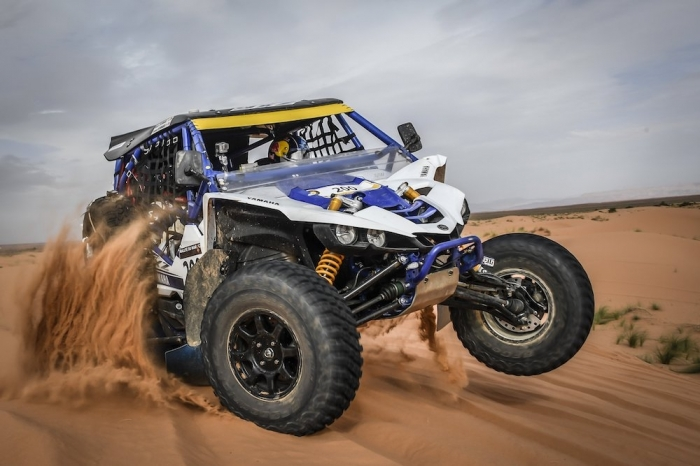 200 PETERHANSEL Stephane (FRA), PETERHANSEL Andrea (DEU), Yamaha Racing, Yamaha YXZ 1000, SSV, action during Rally of Morocco 2018, Stage 2, Erfoud to Erfoud, october 6 - Photo Eric Vargiolu / DPPI