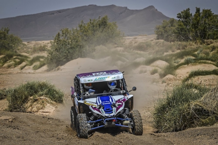222 ALKUWARI Ahmed (QAT), LUCCHESE Manuel (ITA), Yamaha YXZ 1000, SSV, action during Rally of Morocco 2018, Stage 3, Erfoud to Erfoud, october 7 - Photo Eric Vargiolu / DPPI