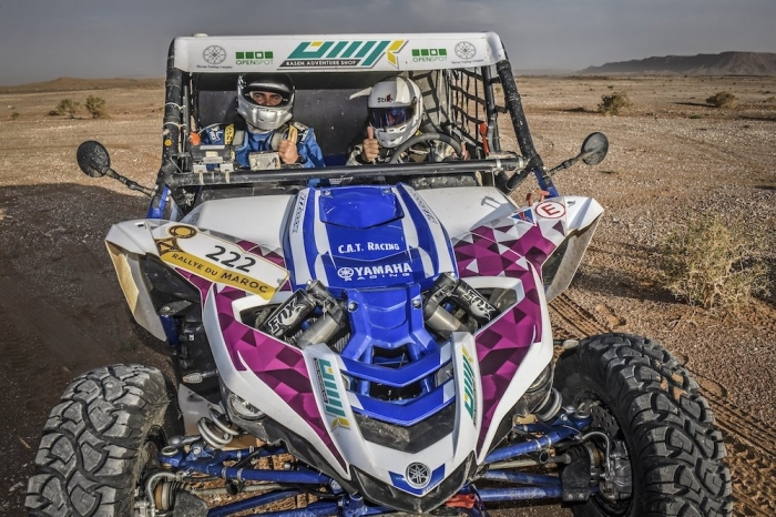 222 ALKUWARI Ahmed (QAT), LUCCHESE Manuel (ITA), Yamaha YXZ 1000, SSV, action during Rally of Morocco 2018, Stage 5, Erfoud to Fes, october 9 - Photo Eric Vargiolu / DPPI
