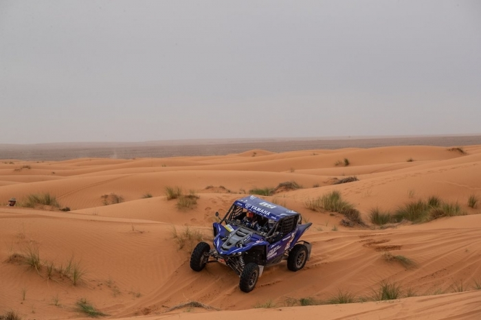 211 DE SEYNES Eric (FRA), LIPAROTI Camelia (ITA), Yamaha Motor Europe, Yamaha YXZ1000R, SSV, action  during Rally of Morocco 2018, Stage 2, Erfoud to Erfoud, october 6 - Photo Frederic Le Floc'h / DPPI