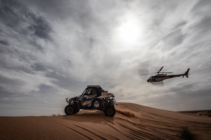 217 KARIAKIN Sergei (RUS), VLASIUK Anton (RUS), Sergei Kariakin, Can-AM Maverick X3, SSV, action  during Rally of Morocco 2018, Stage 2, Erfoud to Erfoud, october 6 - Photo Frederic Le Floc'h / DPPI