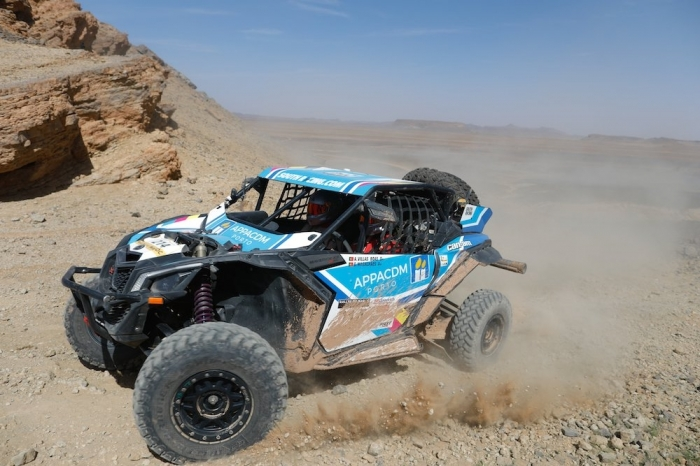 214 VILLAS BOAS Andre (POR), MAGALHAES Goncalo (POR), South Racing, Can-Am Maverick X3, SSV, action  during Rally of Morocco 2018, Stage 3, Erfoud to Erfoud, october 7 - Photo Frederic Le Floc'h / DPPI