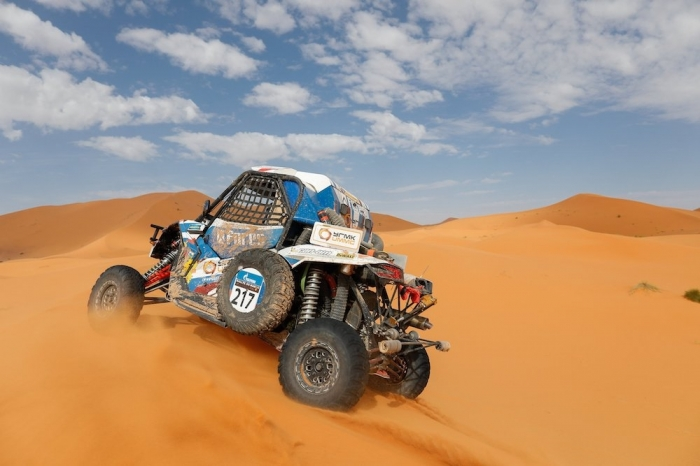 217 KARIAKIN Sergei (RUS), VLASIUK Anton (RUS), Sergei Kariakin, Can-AM Maverick X3, SSV, action  during Rally of Morocco 2018, Stage 4, Erfoud to Erfoud, october 8 - Photo Frederic Le Floc'h / DPPI