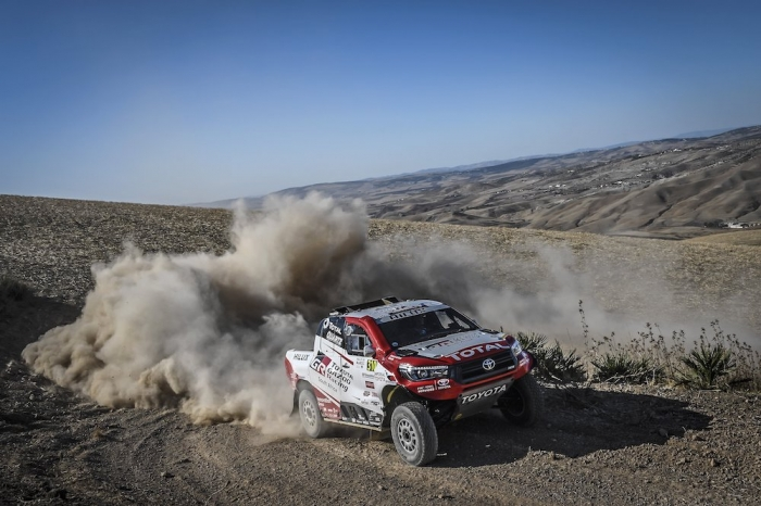 310 DE VILLIERS Giniel (ZAF), WINOCQ Alexandre (FRA), Toyota Gazoo Racing South Africa, Toyota Hilux, auto, action during Rally of Morocco 2018, Prologue, Fes, october 4 - Photo Eric Vargiolu / DPPI