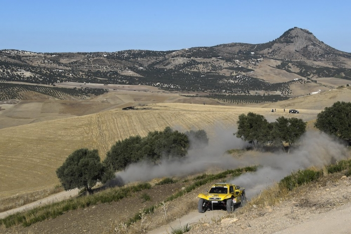 328 WEI Han (CHN), MIN Liao (CHN), Han Wei, Buggy Geely, auto, action during Rally of Morocco 2018, Prologue, Fes, october 4 - Photo Eric Vargiolu / DPPI