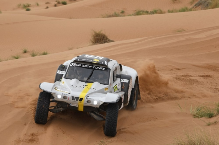 322 MAURICE Benoit (FRA), GANACHE Frederic (FRA), Benoit Maurice, Sans Original, auto, action during Rally of Morocco 2018, Stage 2, Erfoud to Erfoud, october 6 - Photo Eric Vargiolu / DPPI
