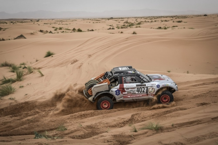 402 BOURGEOIS Pascal (FRA), BOURGEOIS Cyril (FRA), Team Bourgeois Competition, Toyota Renovatio GTR, Open, action during Rally of Morocco 2018, Stage 2, Erfoud to Erfoud, october 6 - Photo Eric Vargiolu / DPPI