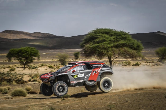 323 BESSON Jean-Pascal (FRA), DELAUNAY Sebastien (FRA), Jean-Pascal Besson, Peugeot DKR 3008, auto, action during Rally of Morocco 2018, Stage 3, Erfoud to Erfoud, october 7 - Photo Eric Vargiolu / DPPI