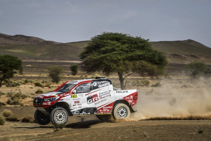 310 DE VILLIERS Giniel (ZAF), WINOCQ Alexandre (FRA), Toyota Gazoo Racing South Africa, Toyota Hilux, auto, action during Rally of Morocco 2018, Stage 3, Erfoud to Erfoud, october 7 - Photo Eric Vargiolu / DPPI