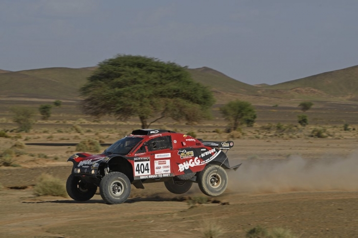 404 SABATIER Jean-Antoine (FRA), BROTONS Vincent (FRA), Bugg Afrique, Buggy One, Open, action during Rally of Morocco 2018, Stage 3, Erfoud to Erfoud, october 7 - Photo Eric Vargiolu / DPPI