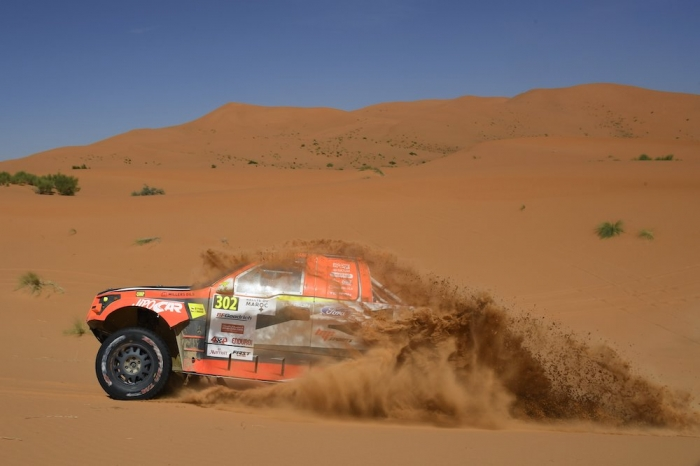 302 PROKOP Martin (CZE), TOMANEK Jan (CZE), MP-Sports, Ford Raptor RS Cross Country, auto, action during Rally of Morocco 2018, Stage 4, Erfoud to Erfoud, october 8 - Photo Eric Vargiolu / DPPI