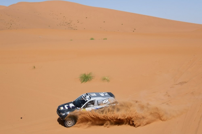 318 KROTOV Denis (RUS), TSYRO Dmytro (UKR), MSK Rally Team, BMW X3, auto, action during Rally of Morocco 2018, Stage 4, Erfoud to Erfoud, october 8 - Photo Eric Vargiolu / DPPI