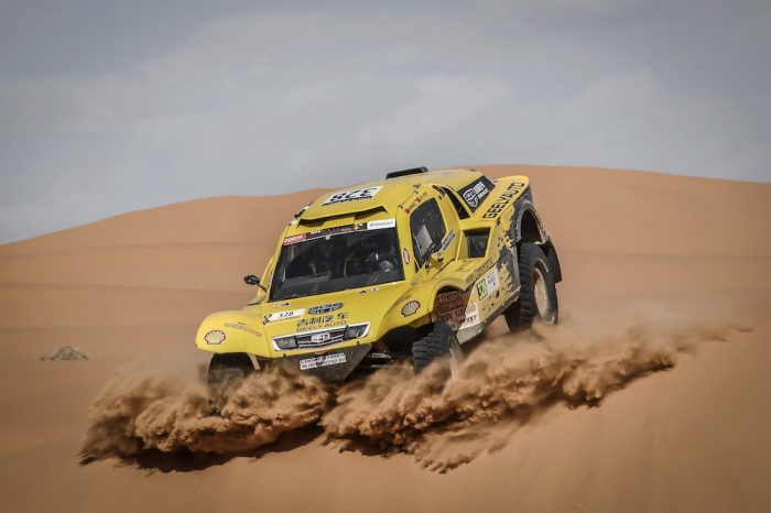 328 WEI Han (CHN), MIN Liao (CHN), Han Wei, Buggy Geely, auto, action during Rally of Morocco 2018, Stage 4, Erfoud to Erfoud, october 8 - Photo Eric Vargiolu / DPPI
