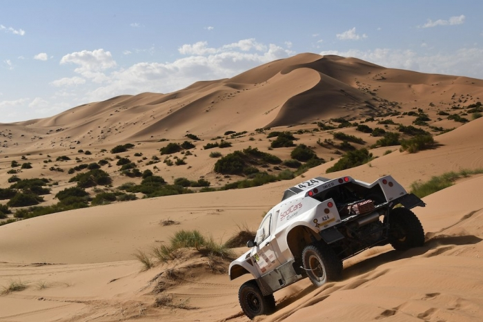324 BALOCCHI Francis (FRA), Seillet Bruno (FRA), Francis Balocchi, Chevrolet BV2, auto, action during Rally of Morocco 2018, Stage 4, Erfoud to Erfoud, october 8 - Photo Eric Vargiolu / DPPI