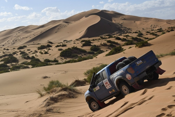 317 TITOV Alexey (RUS), RUSOV Andrey (RUS), RE Autoklubs, Ford F150, auto, action during Rally of Morocco 2018, Stage 4, Erfoud to Erfoud, october 8 - Photo Eric Vargiolu / DPPI