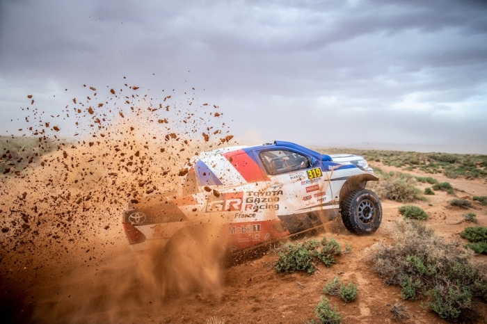 319 CHABOT Ronan (FRA), PILLOT Gilles (FRA), Overdrive Racing, Toyota Hilux Overdrive, auto, action  during Rally of Morocco 2018, Stage 1, Fes to Erfoud, october 5 - Photo Frederic Le Floc'h / DPPI