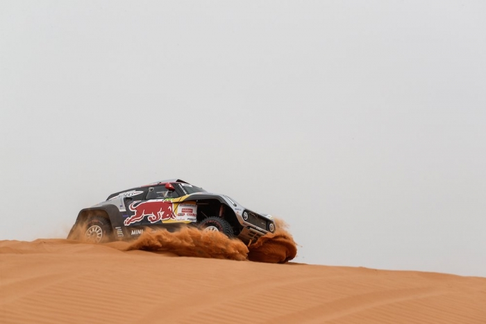 309 DESPRES Cyril (AND), cotre Jean-Paul (FRA), X-Raid Mini John Cooper Works Buggy Team, Mini John Cooper Works Buggy, auto, action  during Rally of Morocco 2018, Stage 2, Erfoud to Erfoud, october 6 - Photo Frederic Le Floc'h / DPPI