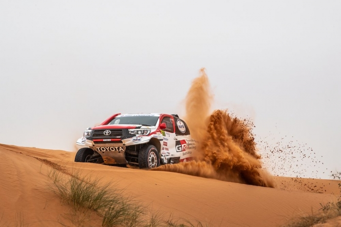 311 TEN BRINKE Bernhard (NLD), PANSERI Xavier (FRA), Overdrive Racing, Toyota Hilux, auto, action  during Rally of Morocco 2018, Stage 2, Erfoud to Erfoud, october 6 - Photo Frederic Le Floc'h / DPPI