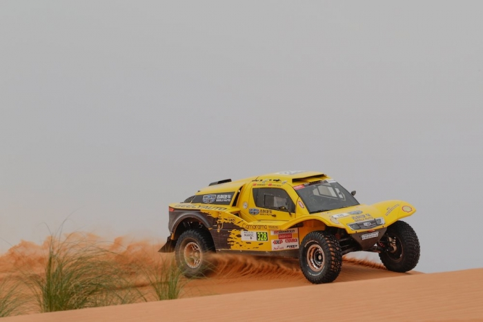 328 WEI Han (CHN), MIN Liao (CHN), Han Wei, Buggy Geely, auto, action  during Rally of Morocco 2018, Stage 2, Erfoud to Erfoud, october 6 - Photo Frederic Le Floc'h / DPPI